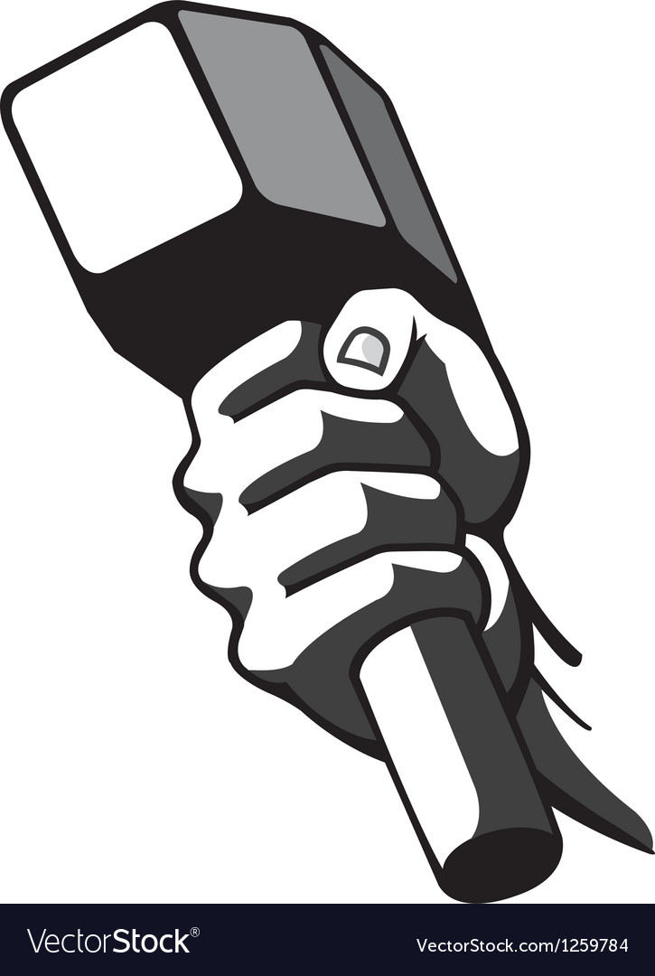 Hammer in hand vector