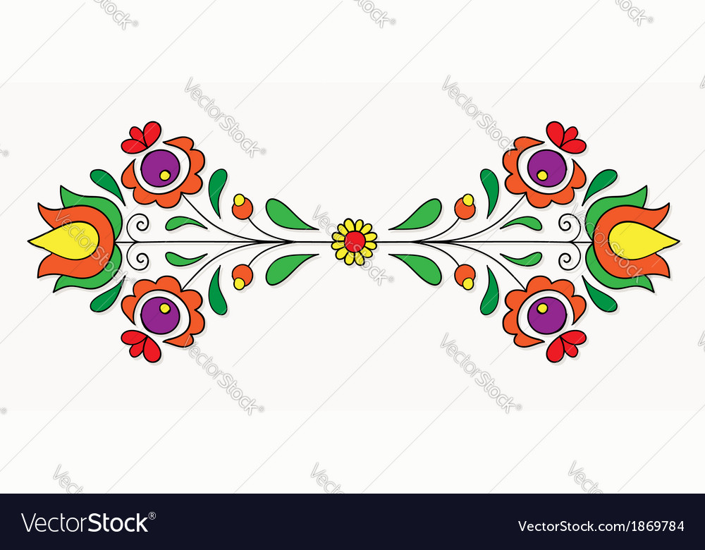 Hungarian folk motif vector