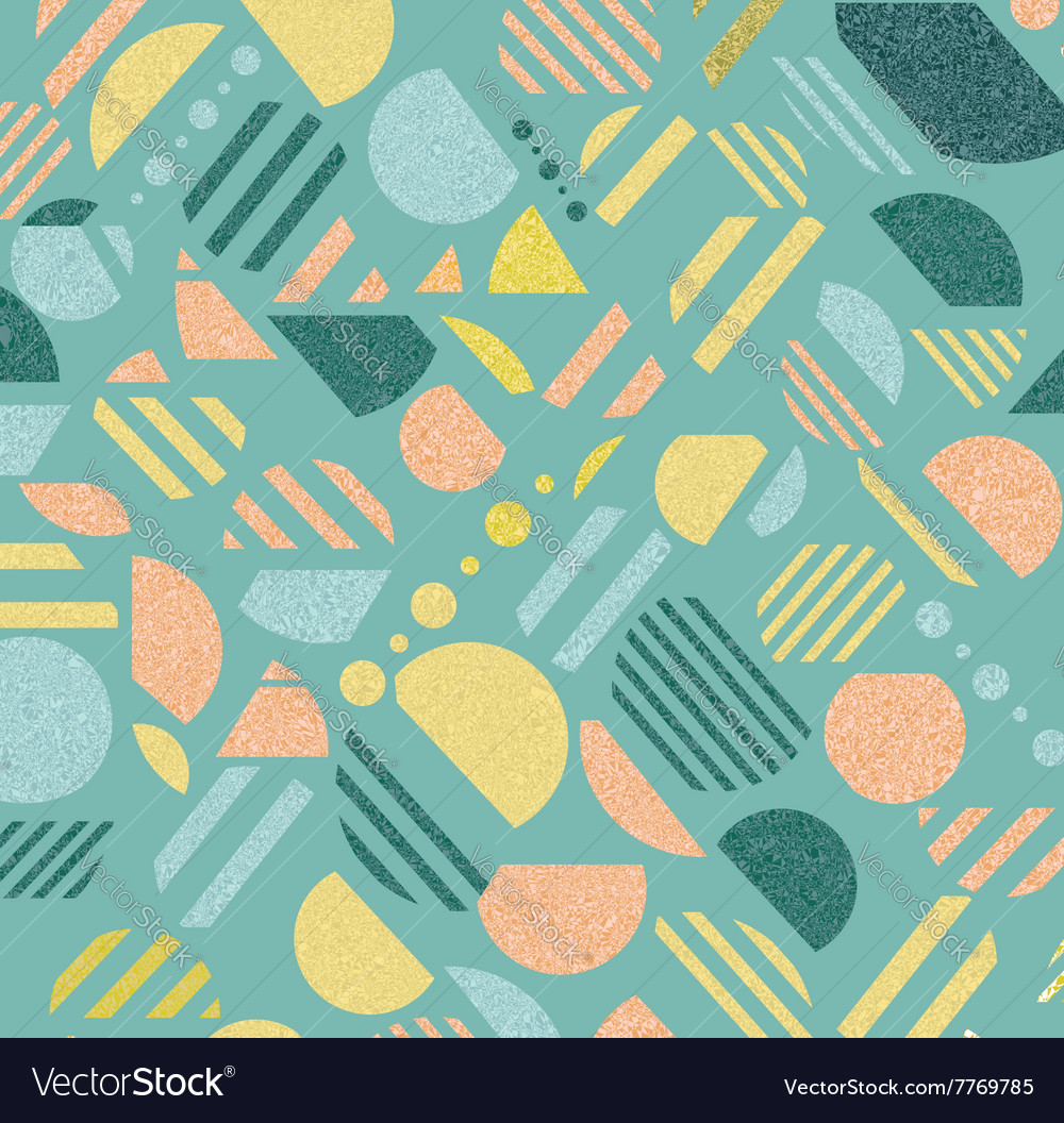 Vintage geometric pattern in retro 80s style vector