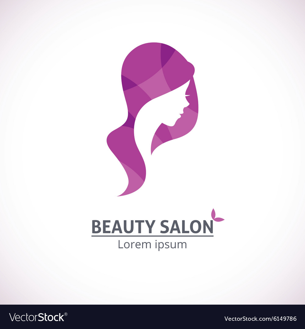 Abstract logo for a beauty salon vector