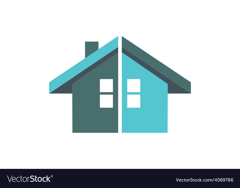 Home construction abstract logo vector