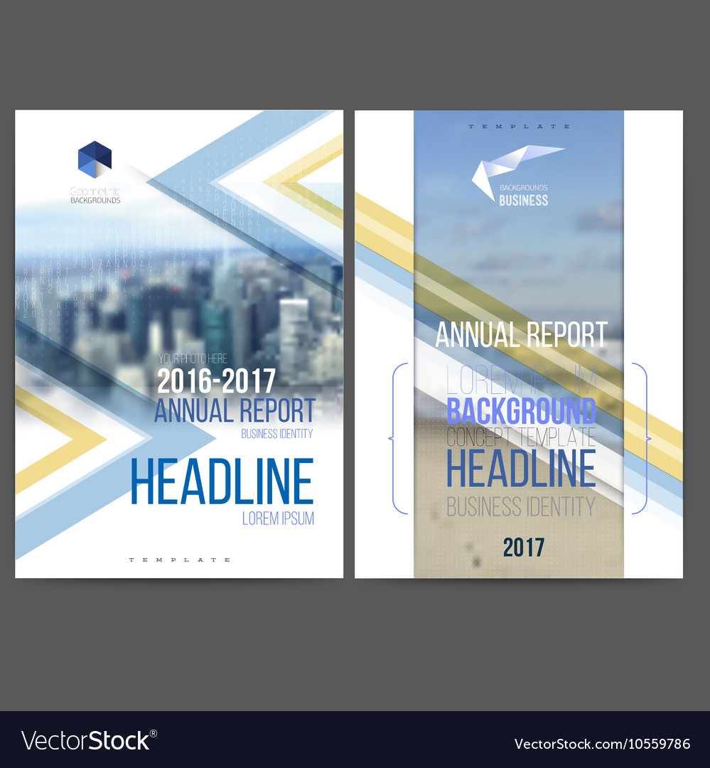 Template design annual report 2017 vector