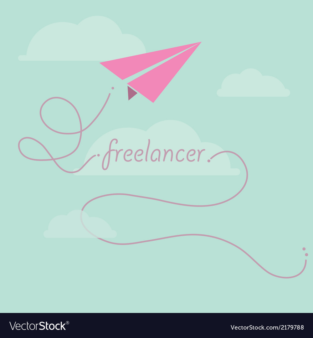 Paper plane as freelancer vector