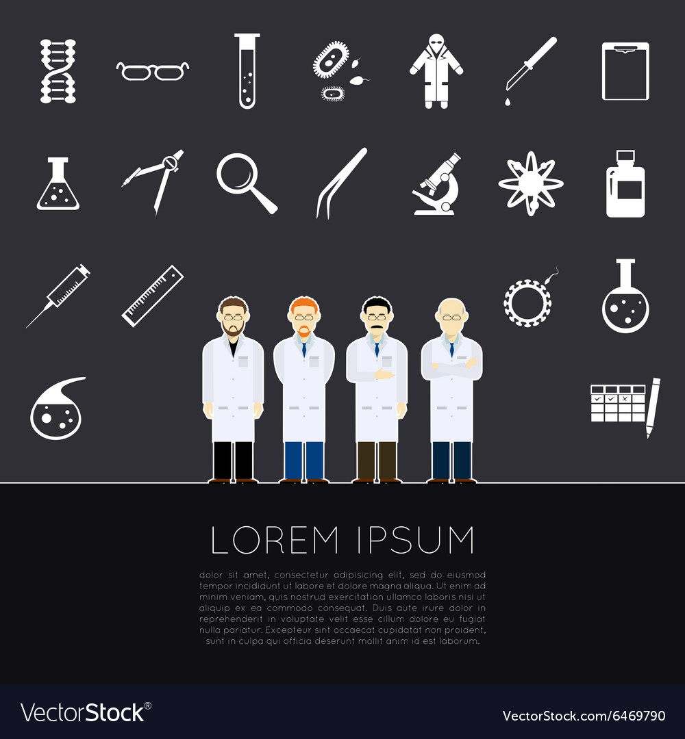 Scientists icons vector