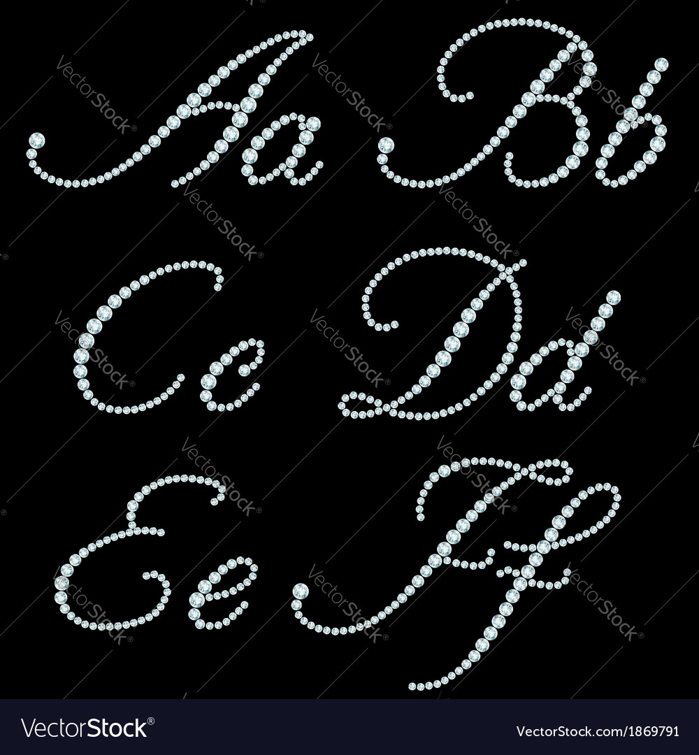 Diamond font vector