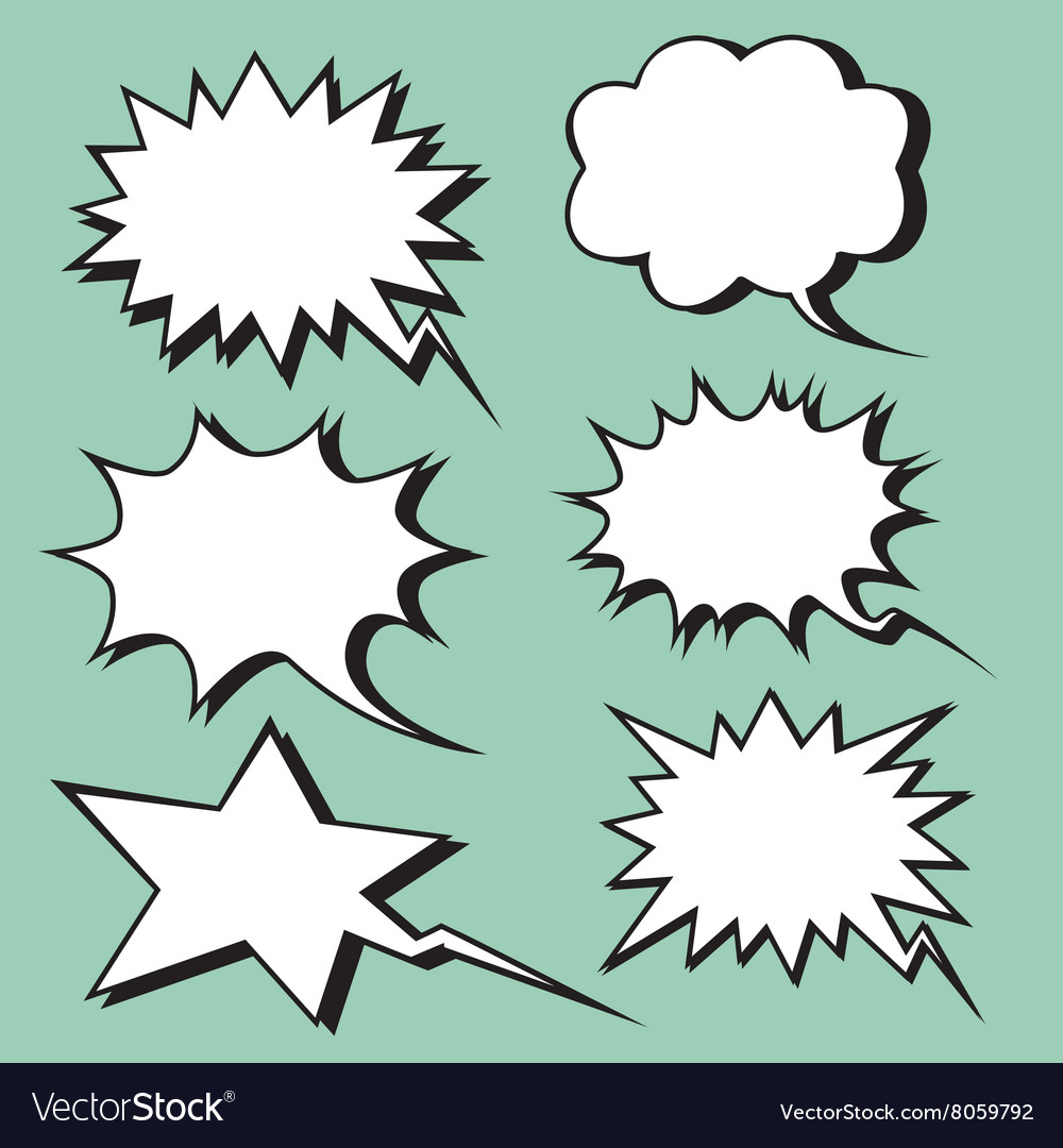 Explosion expression comic bubble retro style vector