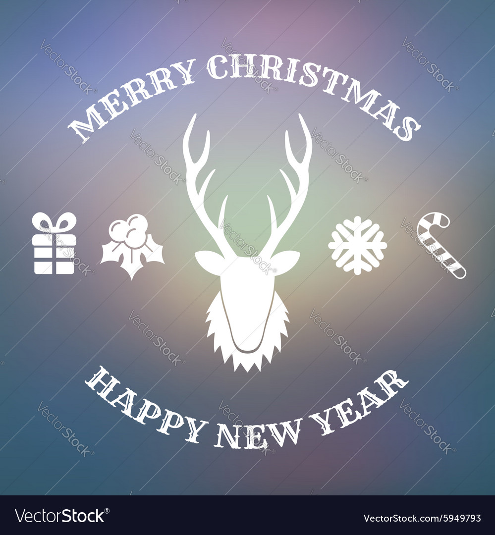 Christmas design with deer vector