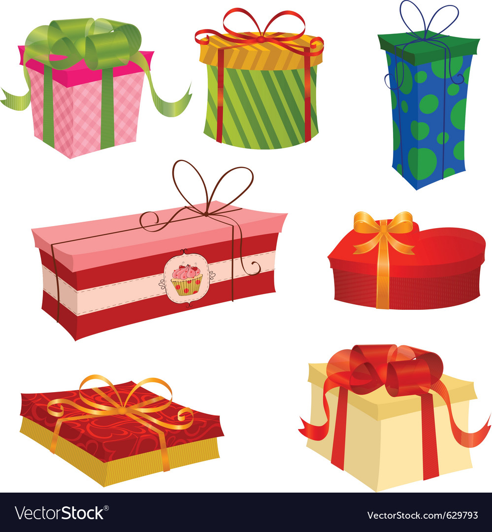 Gifts set for valentines day vector