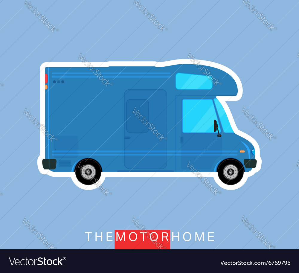 Motorhome vehicle isolated vector