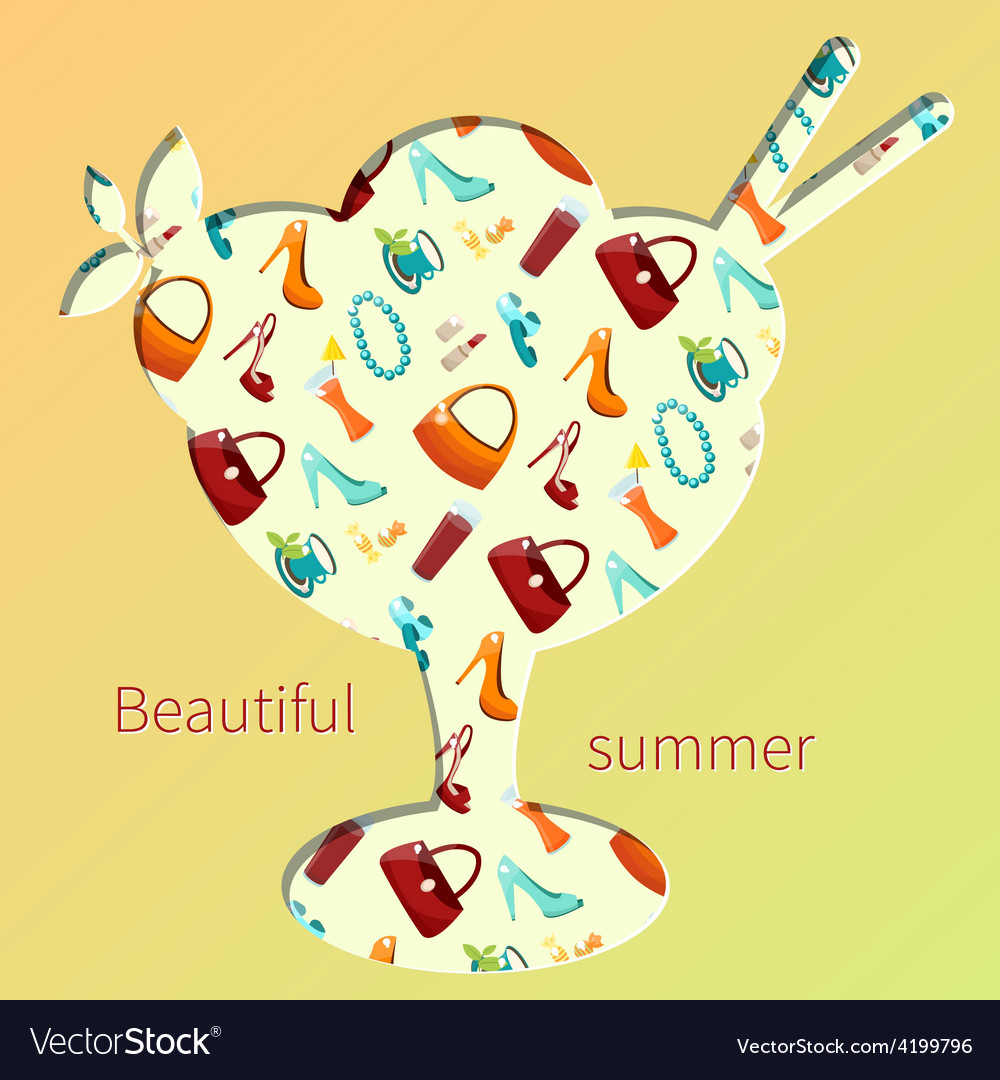 Beautiful summer vector