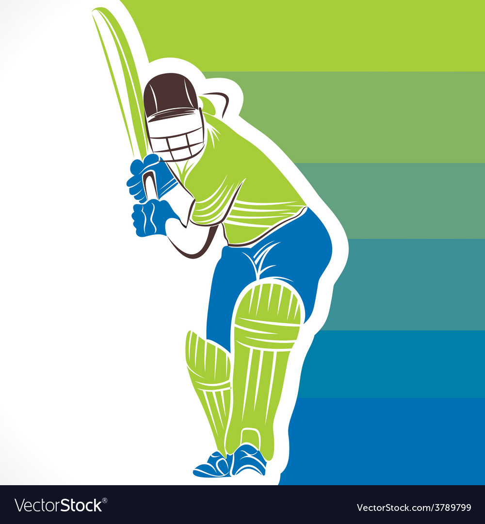 Creative cricket player banner design vector