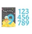 Happy Birthday Cartoon Greeting Card vector image