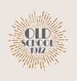 vintage sunburst abstract retro label old school vector image