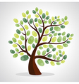 Finger prints tree vector image vector image