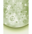 Christmas background with copyspace EPS 8 vector image vector image