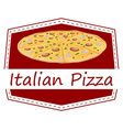 An Italian pizza label vector image vector image