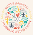 Yoga background with yogic quote vector image