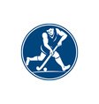 Field Hockey Player Running With Stick Icon vector image vector image