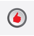 Like hand icon Thumb up good symbol Red sign on vector image