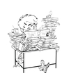 Literature student boy reads books vector image