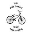 Bicycle related typography vector image