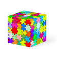 Puzzle kube 04 vector image