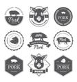 Black pork labels vector image