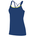 Blue yoga clothing vector image