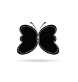butterfly black and white silhouette vector image