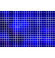 dark blue square mosaic background over white vector image