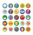 food flat icons 3 vector image