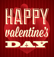 Happy Valentines Day Card and Wallpaper vector image