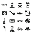 Hipster icons set simple style vector image