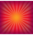 Red And Orange Background With Sunburst vector image