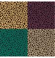 seamless leopard cheetah animal skin pattern vector image