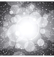 White shining circles and stars gray background vector image