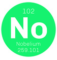 Nobelium chemical element vector image