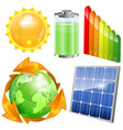 Green Energy Set vector image