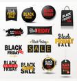 black friday sale banner shopping offer for vector image