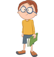boy character with book vector image