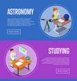 geography and astronomy studying at school vector image