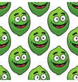 Green avocado fruit seamless pattern vector image
