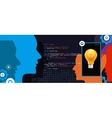 mobile application programming language code smart vector image