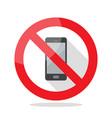 no phone sign vector image
