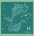 pisces zodiac sign constellation vector image