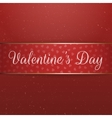 Red and golden Ribbon with Valentines Day Text vector image