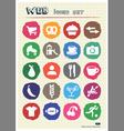Rest food and hobby icons set drawn by chalk vector image