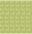 seamless crooked wavy lines flower pattern vector image