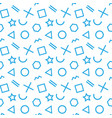 stylish seamless pattern of simple blue geometric vector image