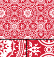 Vintage Victorian Age Red seamless pattern vector image